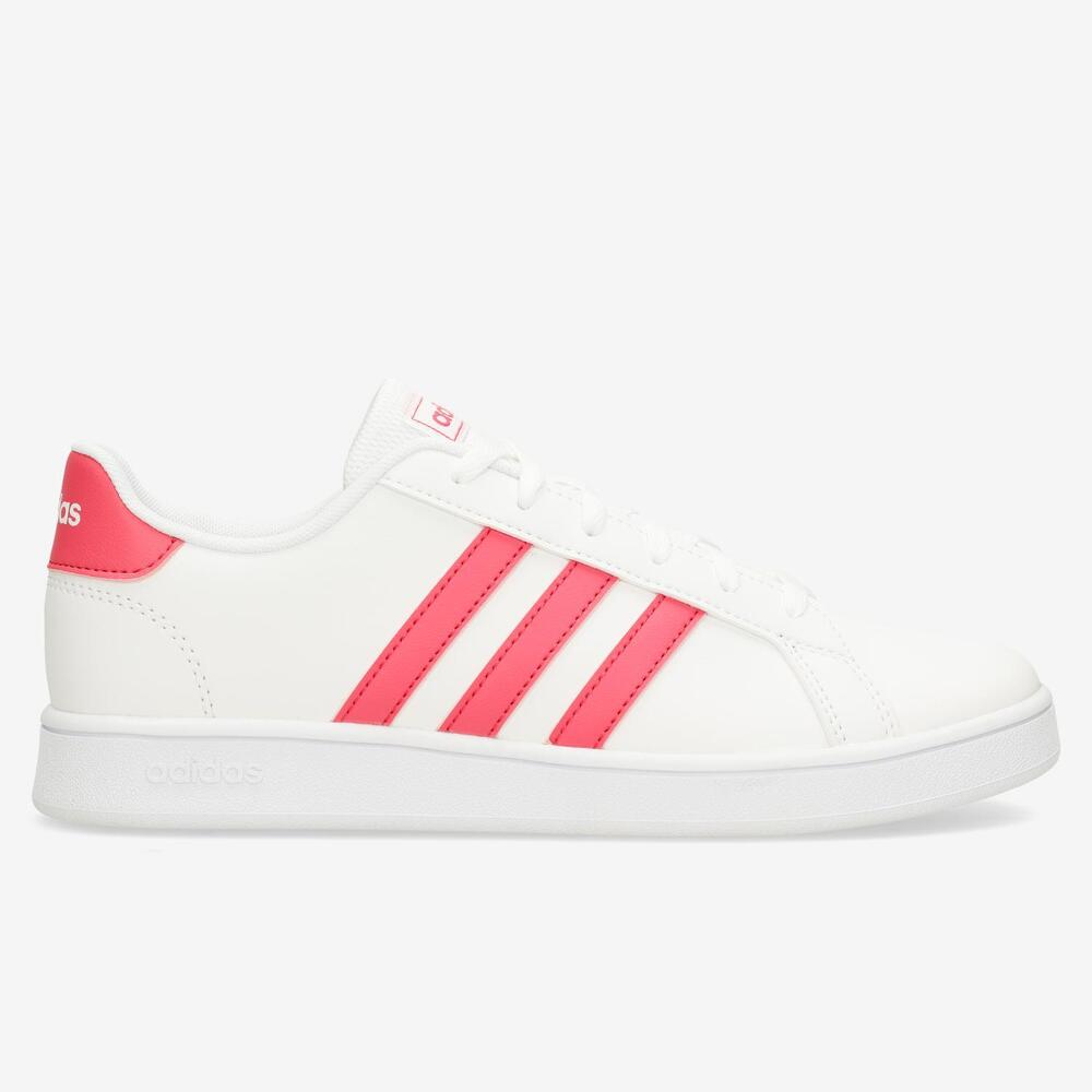 Adidas Court Blanco-Fucsia Junior