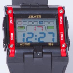 Reloj Sport SILVER Rojo Negro Hombre