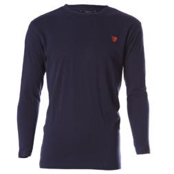 Camiseta de manga larga UP Basic azul marino niño (2-8)