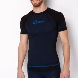 Camiseta Compresión IPSO Negra Azul