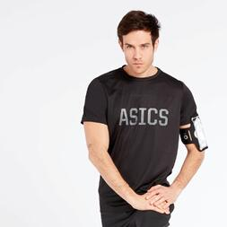 Camiseta Running Asics Graphic Negra