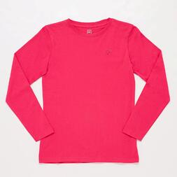 Camiseta Manga Larga Rosa Junior Up Basic