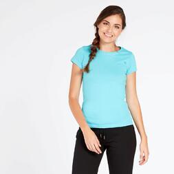 Camiseta Básica Azul Celeste Mujer Up