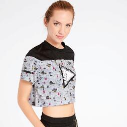 Camiseta Crop Gris Silver Playtech