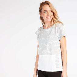 Camiseta Puma Gris Estampada