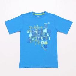 Camiseta Azul Up Stamps Junior