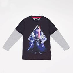 Camiseta Manga Larga Star Wars Junior