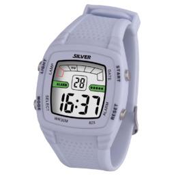 Reloj Digital SILVER Blanco Mujer