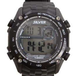 Reloj Sumergible 100 m SILVER Negro Hombre