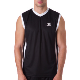 Camiseta sin mangas DAFOR Baloncesto hombre en negro-blanco