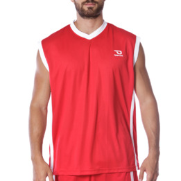 Camiseta sin mangas DAFOR Baloncesto hombre en rojo-blanco