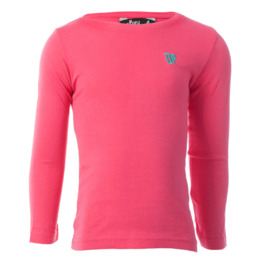 Camiseta de manga larga UP Basic rosa fucsia niña (2-8)