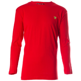 Camiseta de manga larga UP Basic rojo niño (2-8)