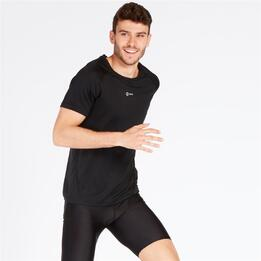 Camiseta IPSO manga corta de Running hombre en Negro