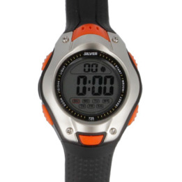 Reloj Digital SILVER Negro Naranja Hombre
