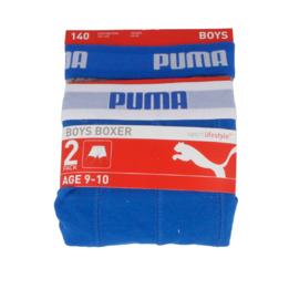 Boxer PUMA Azul Gris Niño