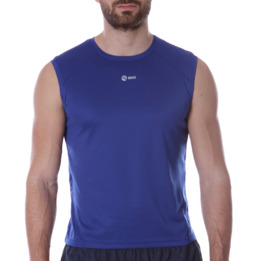 Camiseta Sin Mangas IPSO BASIC Azul Hombre