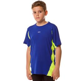 Camiseta Running IPSo Basic Azul Royal-Pistacho Niño