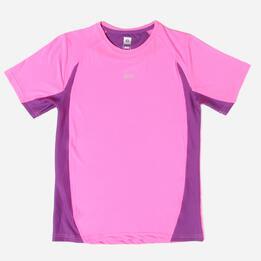 Camiseta Running IPSo Basic Rosa-Morado Niña