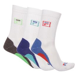 Pack 3 Calcetines Largo FILA Blanco Hombre