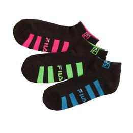 Pack 3 Calcetines FILA Negro Mujer