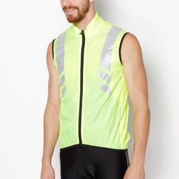 Chaleco Ciclismo Plata MÍTICAL Flúor Hombre