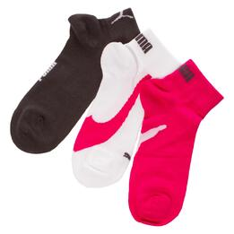 Pack 3 Calcetines PUMA Blanco Fucsia Mujer