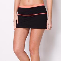 Falda Pantalón Tenis PROTON Negro Coral Mujer