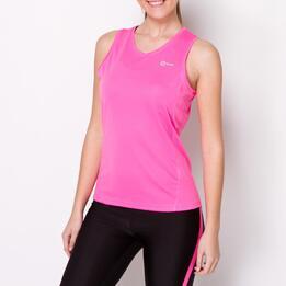 Camiseta Running Tirantes IPSO BASIC Fucsia Mujer