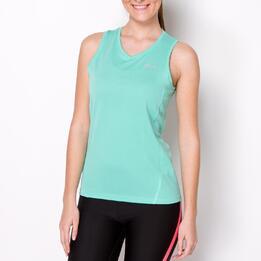 Camiseta Running Tirantes IPSO BASIC Verde Mujer