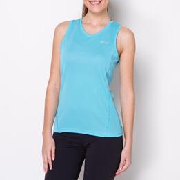 Camiseta Running Tirantes IPSO BASIC Celeste Mujer