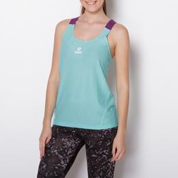 Camiseta Running IPSO EXPERIENCE Turquesa Mujer