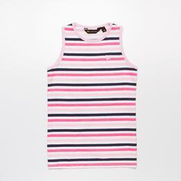 Camiseta Tirantes Rayas UP BASIC Rosa Niña (10-16)