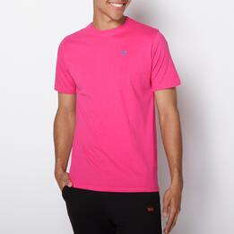 Camiseta Casual UP BASIC Fucsia Hombre