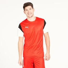 PUMA Camiseta Fútbol Roja Hombre