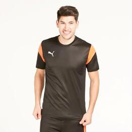 PUMA Camiseta Fútbol Negra Hombre