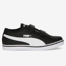 Zapatillas Puma Elsu Velcro Negras Niño (28-35)