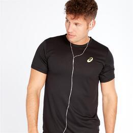 ASICS Camiseta Negra Hombre