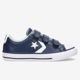 CONVERSE STAR PLAYER Zapatillas Lona Velcro Marino Niño (31-35)