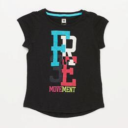 Camiseta Yoga ILICO Negra Niña (10-16)