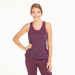 Camiseta Tirantes Gym ILICO Morado Mujer