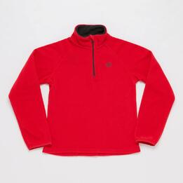 Forro Polar UP BASIC Zip Rojo Niña (10-16)