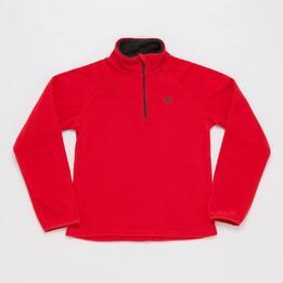 Forro Polar UP BASIC Zip Rojo Niña (10-16)