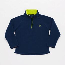 Sudadera Polar UP BASIC Cuello Zip Marino Unisex (2-8)
