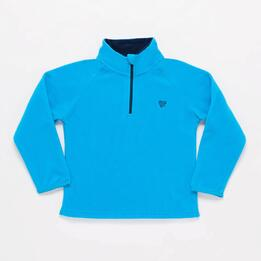 Sudadera Polar UP BASIC Cuello Zip Azul Unisex (2-8)
