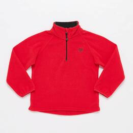Sudadera Polar UP BASIC Cuello Zip Rojo Unisex (2-8)