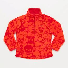 Forro Polar UP BASIC Estampado Cuello Zip Rojo Niño (2-8)