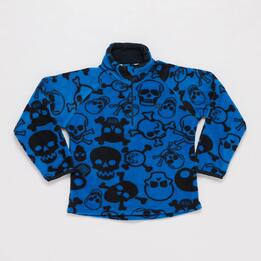 Forro Polar UP BASIC Estampado Cuello Zip Azul Niño (2-8)