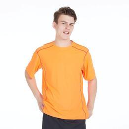 Camiseta Tenis Básica PRONTON Naranja Hombre