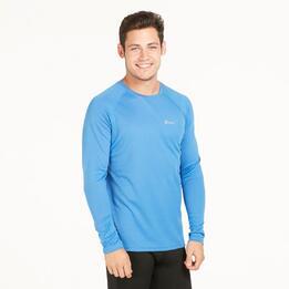 Camiseta Manga Larga Running IPSO BASIC Azul Hombre